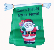 SANTA PLEASE STOP HERE BUNTING - 9 METRES 30 FLAGS